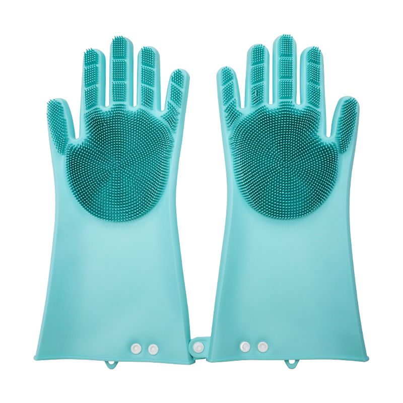 Adjustable Brush Cleaning Gloves 2