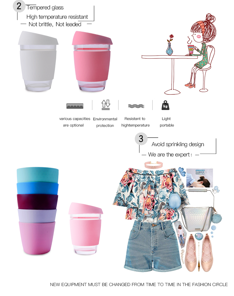 reusable silicone coffee cup
